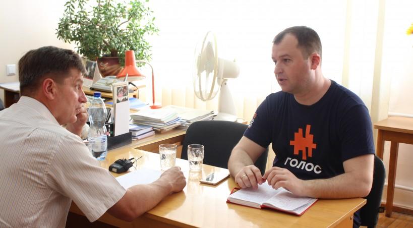 Тернополянин Максим Черкашин, який балотується до Парламенту від партії «Голос», зустрівся з керівником обласних профспілок Андрієм Присяжним (фото, відео)