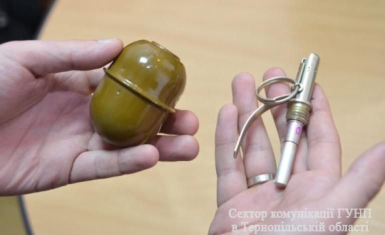На Тернопільщині чоловік погрожував підірвати хату гранатою